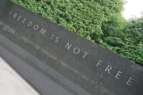 Korean War Memorial. Source: jepoirrier Flickr