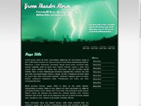Green Thunder Storm