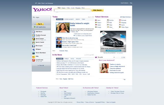 April 6th, 2009 Yahoo! Redesign