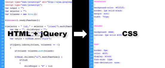 A jQuery Tool That Generates External Stylesheets From Your HTML Structure